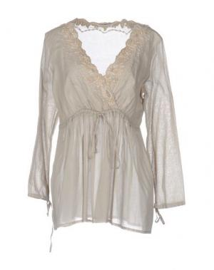 Блузка AMBRE BABZOE. Цвет: бежевый