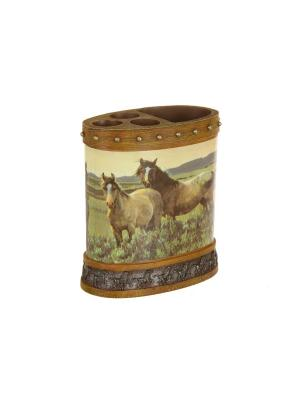 Подставка для зубных щеток Blonder Home. Цвет: коричневый