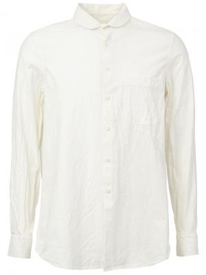 Рубашка с высоким воротником Uma Wang. Цвет: белый