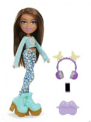 Bratz! Диджей, кукла делюкс Жасмин BRATZ. Цвет: голубой
