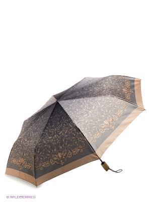 Зонт Fabretti. Цвет: серо-коричневый
