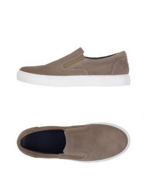 Низкие кеды и кроссовки FABIANO RICCI. Цвет: голубиный серый