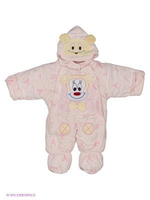 Комбинезон Happy Bear. Цвет: бледно-розовый