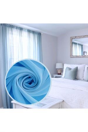 Тюль 300х270 см - 1 шт. Amore Mio. Цвет: голубой