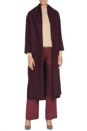 Свободное пальто с карманами Cyrille Gassiline. Цвет: сливовый