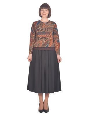 Свитшот Томилочка Мода ТМ. Цвет: коричневый, оранжевый