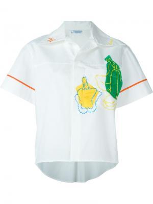 Рубашка с короткими рукавами Richard Malone. Цвет: белый