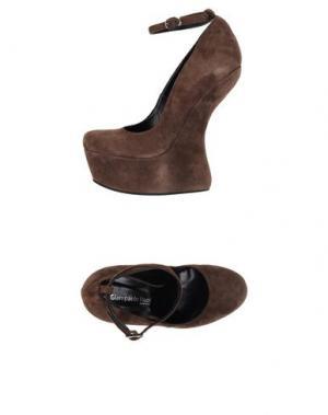 Туфли GIAMPAOLO VIOZZI. Цвет: темно-коричневый