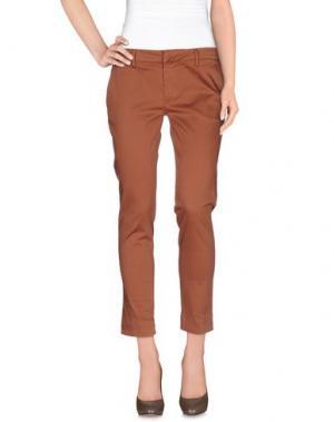 Повседневные брюки NOLITA. Цвет: какао