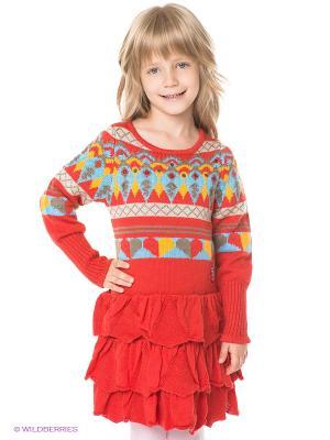 Платье Pampolina. Цвет: коралловый, желтый, голубой, бежевый