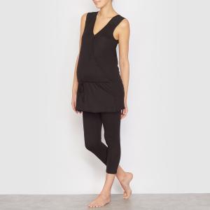 Туника для периода беременности и грудного вскармливания La Redoute Collections. Цвет: черный