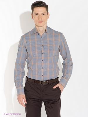 Рубашка Alfred Muller. Цвет: черный, оранжевый