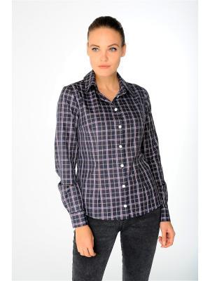 Рубашка Katerina Bleska&Tamara Savin. Цвет: темно-синий, белый, темно-коричневый
