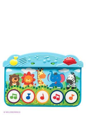Коврик музыкальный Веселый зоопарк Жирафики. Цвет: белый, синий