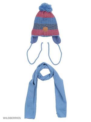 Шапка и шарф Agbo. Цвет: красный