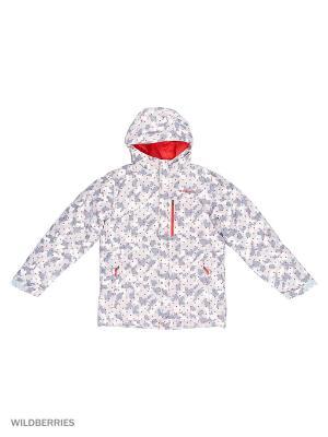 Куртки Columbia. Цвет: серый, красный