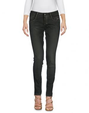 Джинсовые брюки 9.2 BY CARLO CHIONNA. Цвет: зеленый-милитари