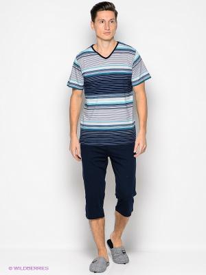 Комплект одежды Vienetta Secret. Цвет: темно-синий, бирюзовый