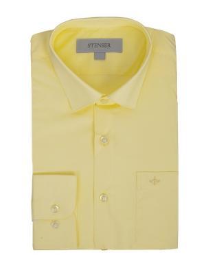 Сорочка STENSER. Цвет: светло-желтый