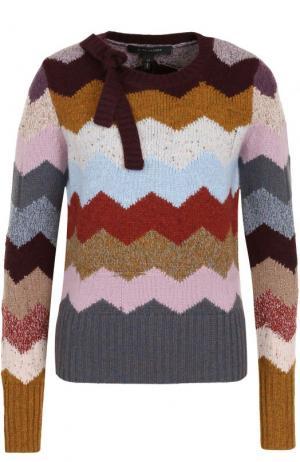 Кашемировый пуловер с принтом и бантом Marc Jacobs. Цвет: разноцветный