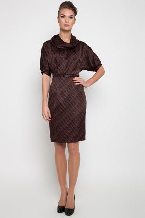Платье NVCollection. Цвет: коричневый