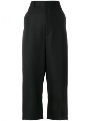 Укороченные брюки с заниженным шаговым швом Junya Watanabe Comme Des Garçons. Цвет: чёрный