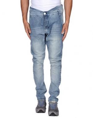 Джинсовые брюки RÜTME. Цвет: синий