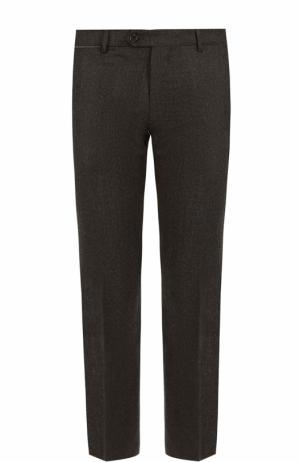 Шерстяные брюки прямого кроя Berwich. Цвет: темно-коричневый
