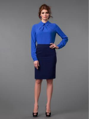 Блузка Be cara. Цвет: синий