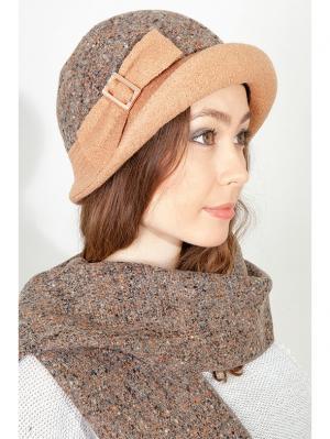 Шляпка, шарф LORICCI. Цвет: серый