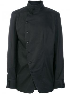 Рубашка с асимметричной застежкой Alchemy. Цвет: чёрный