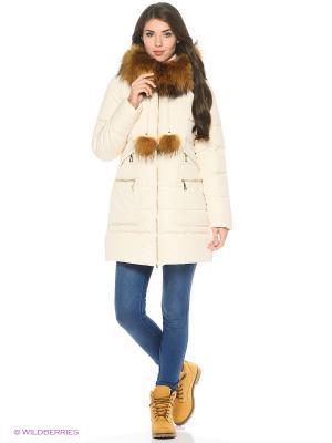 Пальто Snow Guard. Цвет: молочный