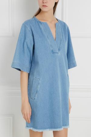 Платье из денима Cleante Paul & Joe Sister. Цвет: голубой