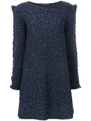 Embroidered flared dress Antonino Valenti. Цвет: синий