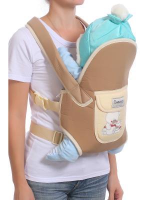 Слинг-рюкзак M-BABY. Цвет: бежевый, кремовый