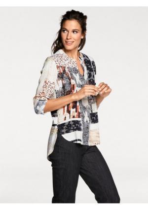 Блузка PATRIZIA DINI. Цвет: серо-коричневый