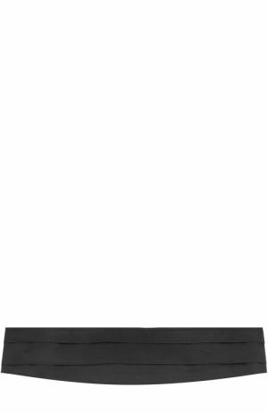 Шелковый камербанд Canali. Цвет: черный