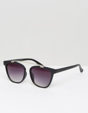 7X Квадратные солнцезащитные очки. Цвет: черный
