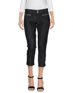 Джинсовые брюки-капри MISS SIXTY. Цвет: черный