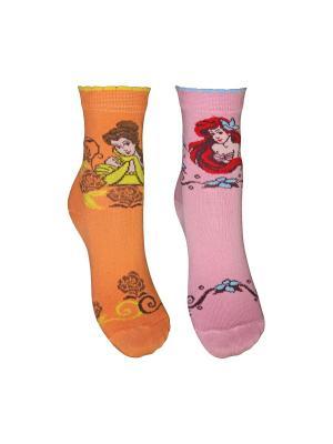 Носки 2 пары Master Socks. Цвет: оранжевый, розовый