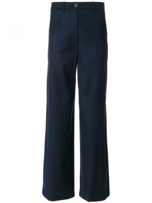 Широкие брюки Semicouture. Цвет: синий