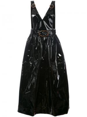 Buckle strap V-neck dress Growing Pains. Цвет: чёрный