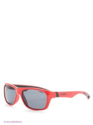 Солнцезащитные очки Polaroid. Цвет: оранжевый, бежевый