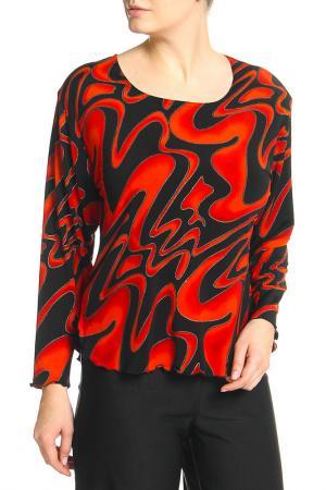 Блузка Moda Mix. Цвет: красный, черный