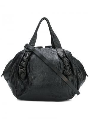 Объемная сумка овальной формы Giorgio Brato. Цвет: чёрный