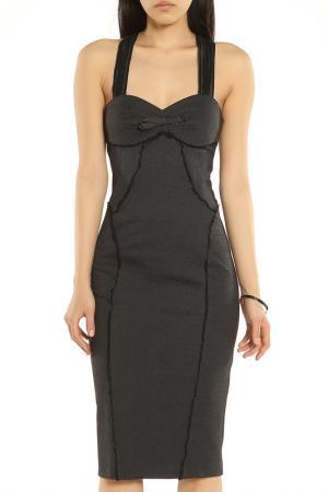 Классическое вечернее платье ERMANNO BY SCERVINO. Цвет: черный