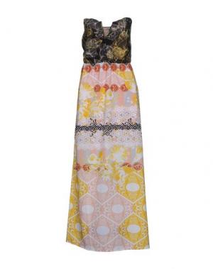 Длинное платье F**K PROJECT. Цвет: желтый