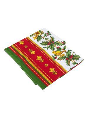 Новогодний набор кухонных полотенец Dream time. Цвет: красный, желтый, белый, зеленый
