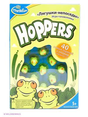 Головоломка Лягушки-непоседы Think Fun. Цвет: голубой, зеленый