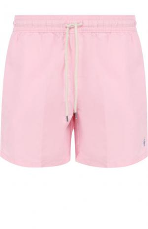 Плавки-шорты с карманами Polo Ralph Lauren. Цвет: светло-розовый